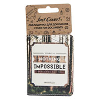 Обложка на документы JustCover «Nothing impossible»